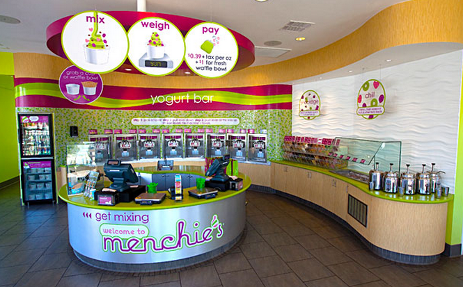 menchies yogurt bar